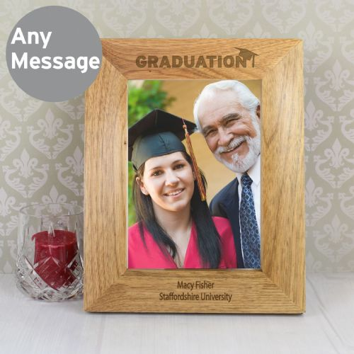 Personalised 5x7 Graduation Wooden Photo Frame Gift and Keepsake